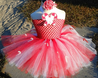Sweet Candy Cane tutu dress