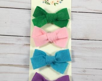 Spring felt bow sets