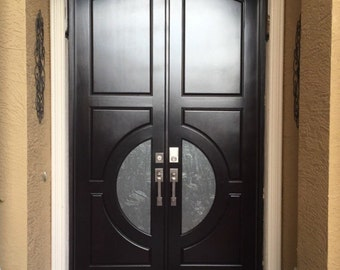 Mahogany Entry Doors with glass