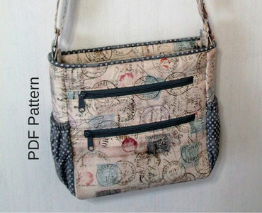 Johanna Crossbody Bag Pdf Sewing Pattern Crossbody Bag