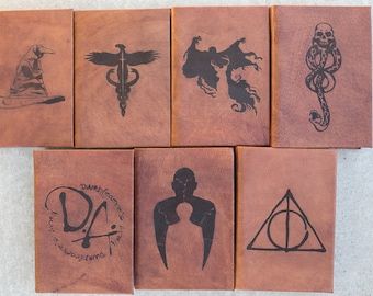 Paperback Based-Leather Bound and Lasered Harry Potter Book Set- U.S. Edition