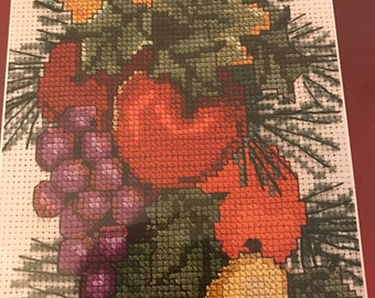 Designs for the Needle 1989 Fruit Bell Pull counted cross stitch kit