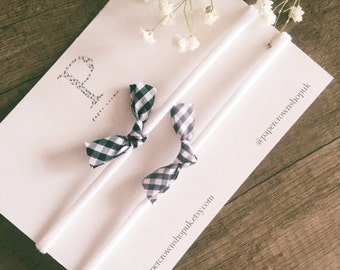 Gingham butterfly bows