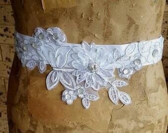 Luxury Bride's Sash, Flower Girl Belt Sash, Maternity Sash, Rhinestone Wedding Christening Wedding Sash Bride Sash Belt