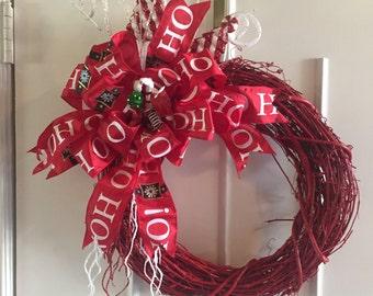 Ho Ho Ho Christmas Wreath
