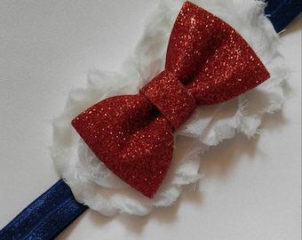 Patriotic bow Headband