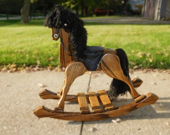 Handmade Vintage Wooden Rocking Horse