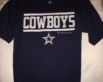 Dallas Cowboys Shirt,Dallas Cowboys Gift,Bling Cowboys Shirt,Cowboys shirt,Dallas Shirt,Bling Cowboys gear,NFL bling,Swarovski Cowboys Shirt