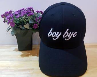 Boy Bye Baseball Cap, Boy Bye Hat, Black Baseball Cap, Womens Hat, Embroidered Baseball Cap, Boy Bye Baseball Hat
