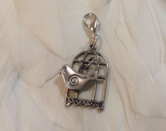 Travelers Notebook BIRD and CAGE Charm.