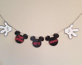 Disney trip countdown banner, countdown to Disney, disney countdown calendar, Disney banner, Disney garland,  Disney trip, Disney vacation