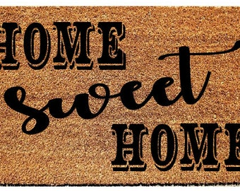 Home Sweet Home Door Mat, Custom Door mat, Doormat, wedding gift, housewarming gift, customizable gift, Custom Gift