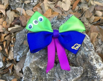 Pizza Planet Alien Toy Story inspired Hair Bow