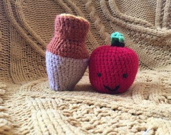 Apples and Honey, Rosh Hashana Toy, Stuffed Apples and Honey Toy for a Sweet New Year, Toys for Rosh Hashana