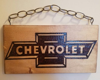 Burned Chevy Sign