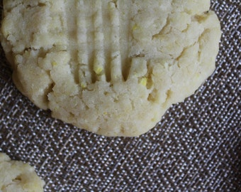 Two Dozen Lemon Protein Cookies- Vegan, Vegetarian, Gluten Free, Sugar Free, Paleo, Clean Eating