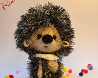 Crochet Hedgehog, toy, decoration, gift ideas, Amigurumi