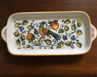 ITALIAN NOVA DERUTA Hand Painted Pottery/ Porcelain Dish
