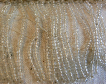 Antique 1920s 1930s glass seed beads 180 grammes for upcycing beaded fringe Flapper Downton / for restoration
