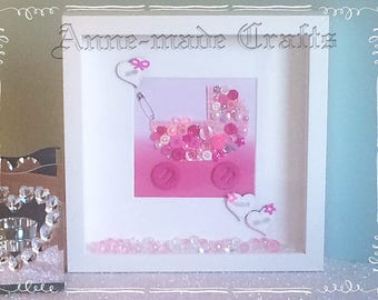 Cute as a Button Baby Frames