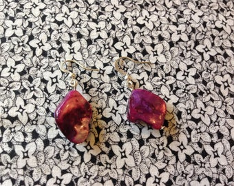 Earrings with Purple Coral, Jewelry