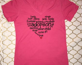 Adoption Shirt, Adoption Heart, Graphic Tee, T-Shirt, Worth the Wait, #adoption, Not Showing still glowing, Paper Pregnant, Soon to be mom