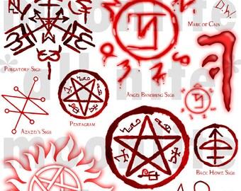 Supernatural Protection Sigils 49515 | LINEBLOG