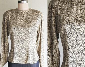 Vintage Evan Picone 100% Silk Blouse Size 6