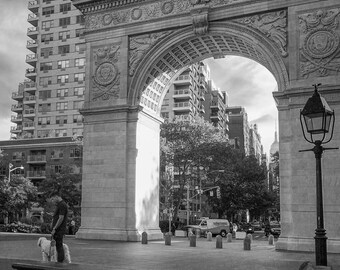 Black and white Washington Square Park