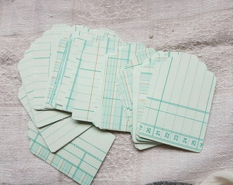Tag Punched Ledger Paper Embellishments Kit 20 Pieces for Journals, Snail Mail, Planners & Altered Art