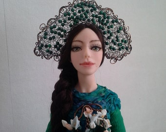 The Mystress of the Copper Mountain art doll collection doll inerior doll