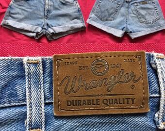 Vintage Wrangler Light Denim Shorts - UK Size 14/US Size 10