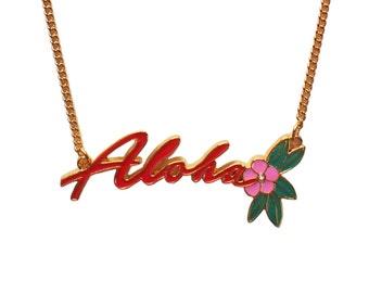 Aloha Enamel Necklace