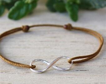 Bracelet sterling silver infinite choice of string