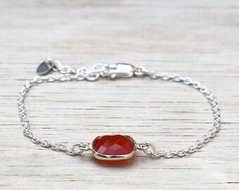 tourmaline on channel gems stone bracelet 925 Silver: bracelet by foryoujewels