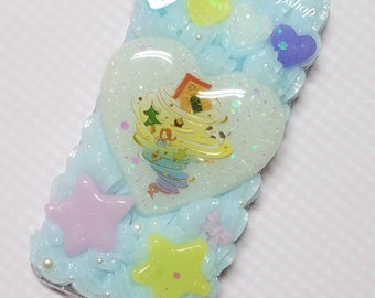 Ready to Ship (iPhone 5c) Wizard of Oz Blue Tornado Decoden Phone Case