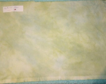 Hand Dyed Fabric for Cross Stitch 14 Ct Aida Green
