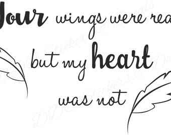 Your wings were ready SVG file - Commercial Use Allowed