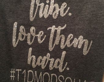 Mod Squad Bling Tee-T1D Mod Squad-Find your tribe love them hard-Awareness shirts-Gold or Silver