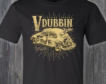 Classic V Dubbin VW Beetle T Shirt