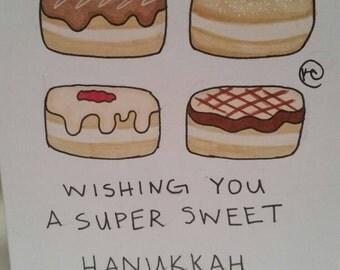Donut Hannukah Card