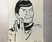 LLAP, Mr. Spock - original linocut