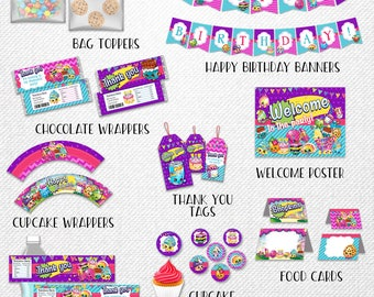 Shopkins bundle, Shopkins party pack, Shopkins party bundle, Shopkins party supplies! Instant download!