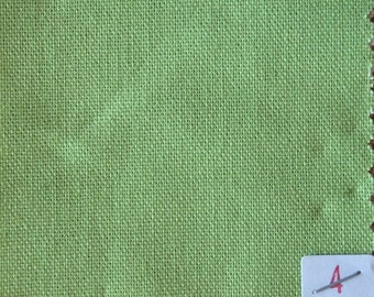High quality soft cotton canvas dyed in Japan. Green nr4