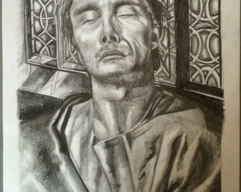 realistic renaissance style pencil drawing