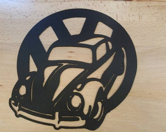 Volkswagen bug beetle metal wall art plasma cut decor vw