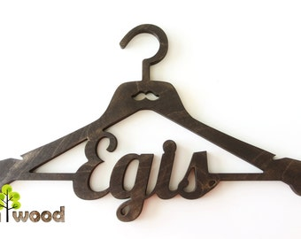 Personalized Wooden Cloth Hanger. Groom hanger. Wedding hanger. Custom hanger. Groomsmen hanger. Rustic Dad