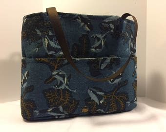 Large padded tote.