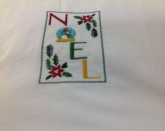 Noel flour sack dish towel
