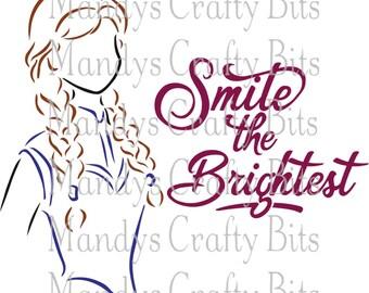 Digital FileSVG Anna Smile the Brightest